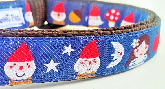 Snow White - Dog Collar / Handmade / Pet Accessories / Adjustable / Dwarf