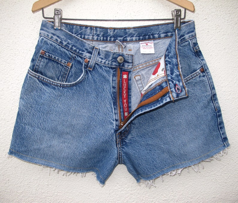 a0fcc048b893 Lucky Brand size 32 Relaxed Fit Zipper Fly Jean Shorts   Faded