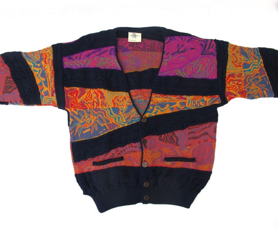 Bold Hipster ARTeFACT Wool Unisex Large Sweater Animal Sweater Jumper Colorful Pattern Cardigan knit Coogi Australia style w6U6RqIx