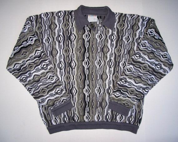 COOGI Australia Men L Polo Button Sweater Large Me