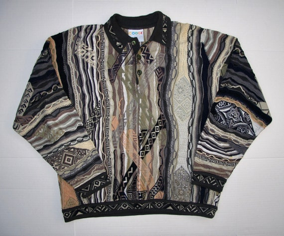 COOGI Australia Men L Polo Sweater, Fabulous Muted