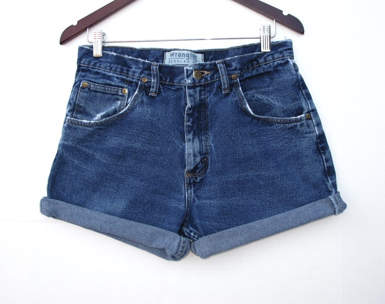 ae7949951e Wrangler Cut Off Faded Distressed Denim Shorts W 30 31 Cut