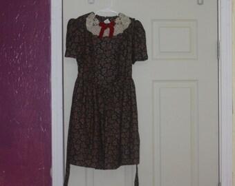 2b794871d3d2d Vintage Jayne Copeland Paisley Girls Child Dress Lace Collar 8