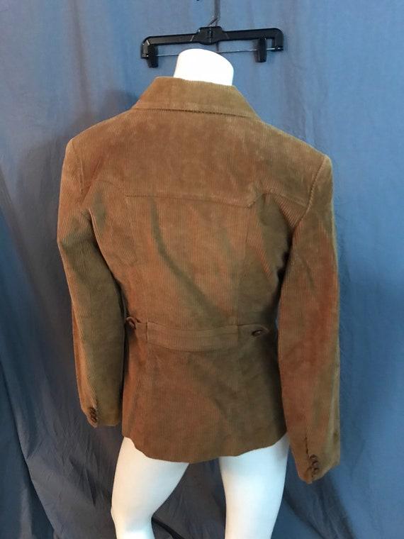 Vintage 1970's brown corduroy western suit jacket… - image 5