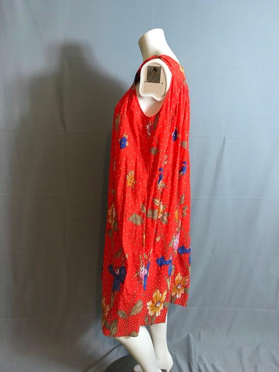 Vintage hand made 70's Tent Dress Caftan Large - image 5