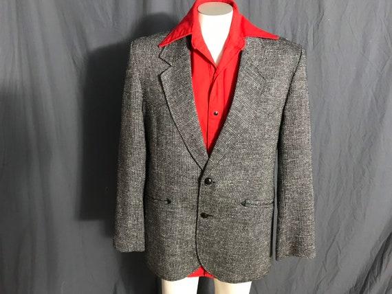 Vintage Pioneer Wear black & white western suit j… - image 1