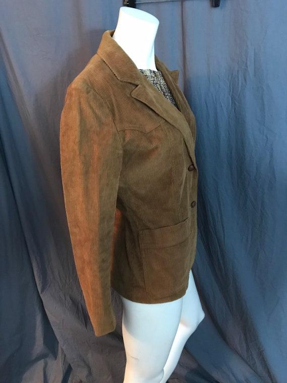 Vintage 1970's brown corduroy western suit jacket… - image 6