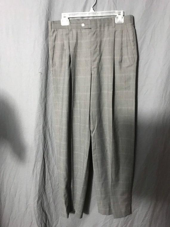Vintage 1980's Pierre Cardin plaid pants 33 - image 3