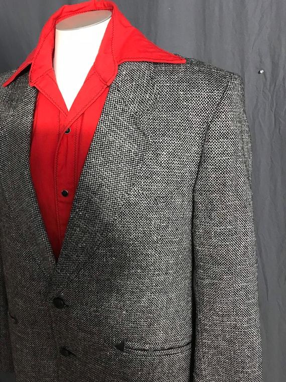 Vintage Pioneer Wear black & white western suit j… - image 3