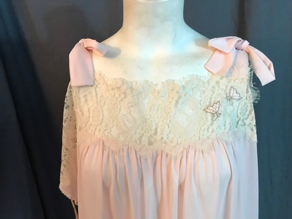 Vintage 70's Lucie Ann Deadstock long pink nightg… - image 2