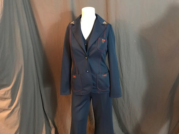 Vintage 1970's Right On 3 pc women's bellbottom pa