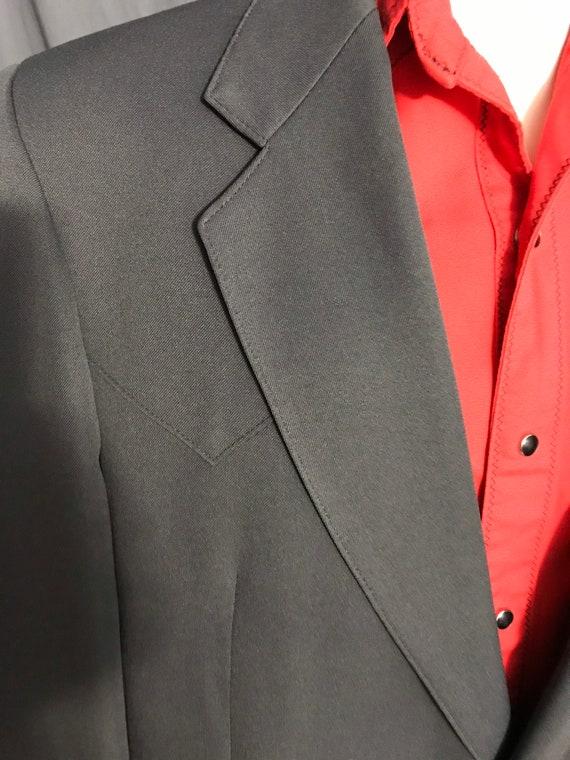 Vintage Farah 1970's gray western suit 44 R - image 3