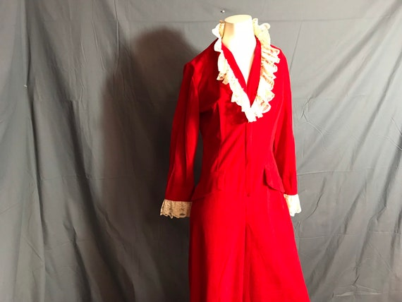 Vintage Red Loungees Pajama Jumpsuit 12