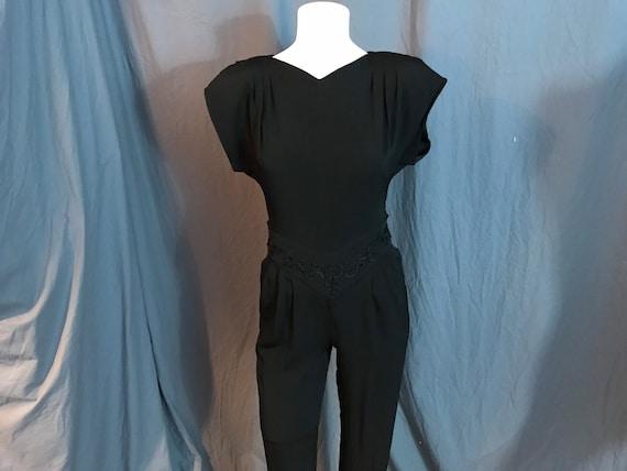 Vintage 1980's black mod jumpsuit 4