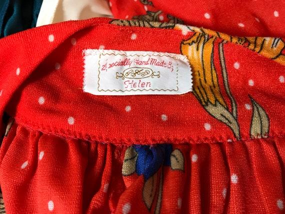 Vintage hand made 70's Tent Dress Caftan Large - image 6