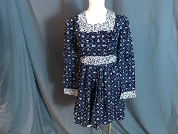 Vintage Corky Craig cotton mini babydoll dress S