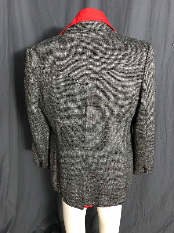 Vintage Pioneer Wear black & white western suit j… - image 7