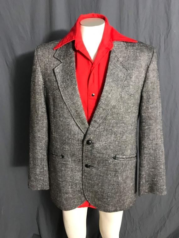 Vintage Pioneer Wear black & white western suit j… - image 2