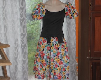 Vintage 80's Victor Costa Party Dress 6 S Med