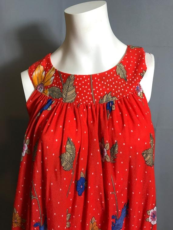 Vintage hand made 70's Tent Dress Caftan Large - image 2