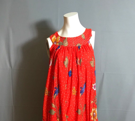 Vintage hand made 70's Tent Dress Caftan Large