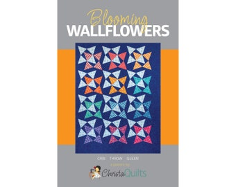 Blooming Wallflowers Digital Quilt Pattern by Christa Watson of ChristaQuilts
