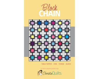 Block Chain Digital Quilt Pattern by Christa Watson of ChristaQuilts