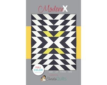 Modern X Digital Quilt Pattern by Christa Watson of ChristaQuilts