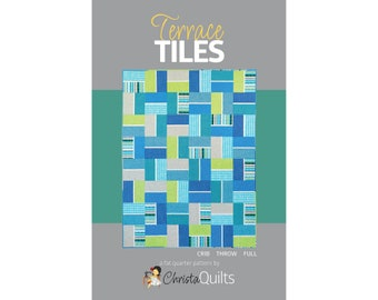 Terrace Tiles Digital Quilt Pattern by Christa Watson of ChristaQuilts