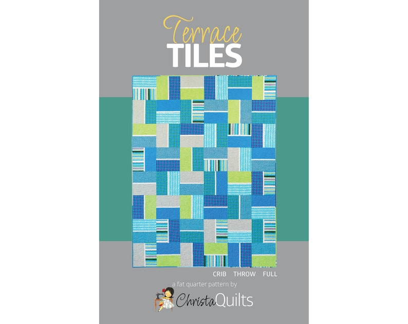 Terrace Tiles Digital Quilt Pattern by Christa Watson of image 0