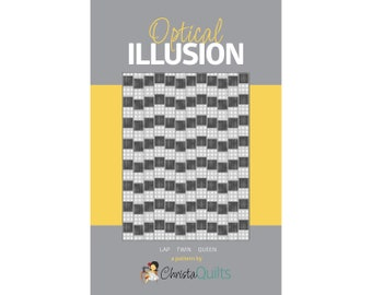 Optical Illusion Digital Quilt Pattern by Christa Watson of ChristaQuilts