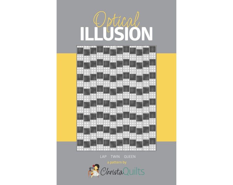 Optical Illusion Digital Quilt Pattern by Christa Watson of image 0