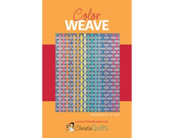 Color Weave Digital Quilt Pattern by Christa Watson of ChristaQuilts