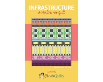 Infrastructure Digital Quilt Pattern by Christa Watson of ChristaQuilts
