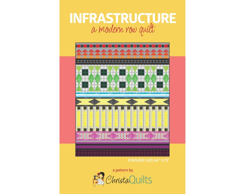 Infrastructure Digital Quilt Pattern by Christa Watson of image 0