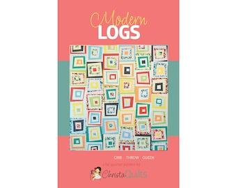 Modern Logs Digital Quilt Pattern by Christa Watson of ChristaQuilts