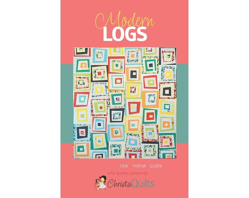 Modern Logs Digital Quilt Pattern by Christa Watson of image 0