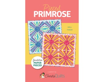 Pieced Primrose Digital Quilt Pattern by Christa Watson of ChristaQuilts