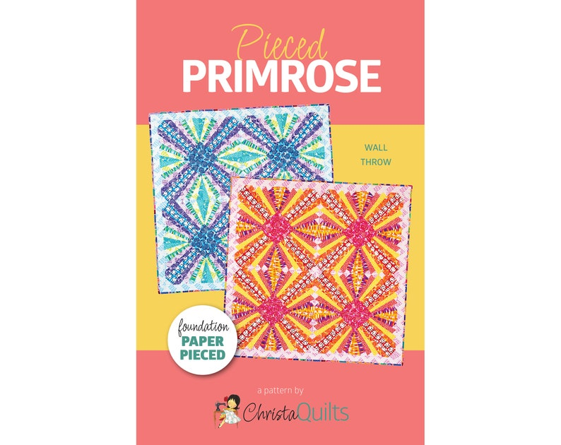 Pieced Primrose Digital Quilt Pattern by Christa Watson of image 0