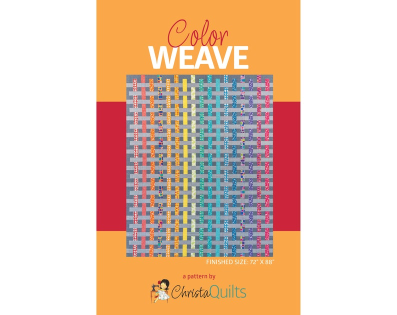 Color Weave Digital Quilt Pattern by Christa Watson of image 0