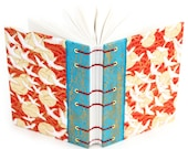 Red Cranes Journal - Lays flat when open for easy writing or sketching - blank and unlined, 160 Pages - free gift box available