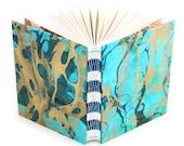 Marbled Journal aqua/gree...