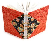 Red Tamari Ball Journal - Handmade Unlined Journal with Japanese Chiyogami paper covers - 166 pages, lays flat - free gift box available