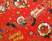 Chiyogami Washi Japanese Paper Sheet 18x24 inches - Merry Christmas - Yuzen paper, Chiyogami Paper