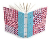 Pink and Blue Geometric Journal - Unlined Journal  - 160 Pages - recycled paper - handmade by Ruth Bleakley - free gift box available