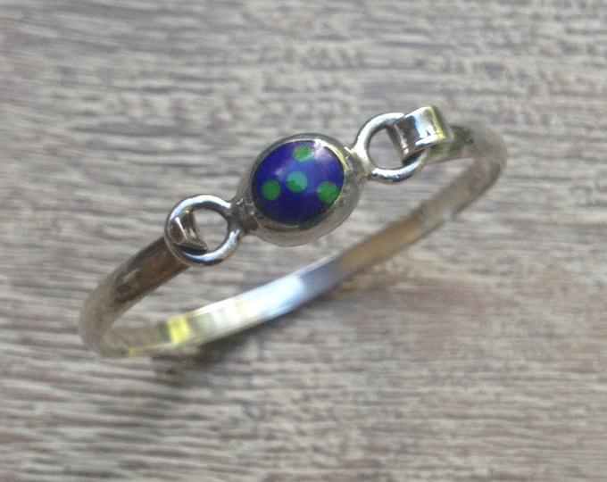 Vintage Mexican Silver Bracelet | Azurmalachite Modernist Bracelet