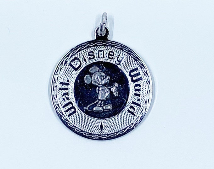 Vintage Sterling Walt Disney World Charm | Silver Mikey Mouse Pendant
