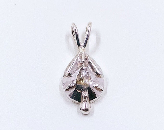 Antique Georgian Conversion Solitare Diamond Pendant |  Antique Rose Cut Diamond Pendant