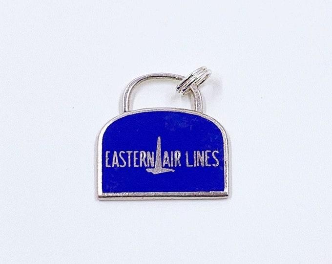 Vintage Eastern Air Lines Luggage Bag Charm | Enamel Suitcase Charm | Vintage Wells Sterling Charm