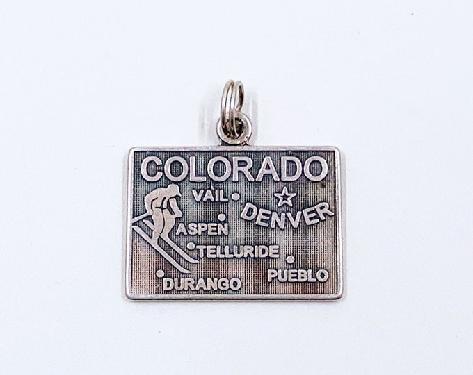 Vintage Colorado State Charm | Silver Colorado Travel Charm
